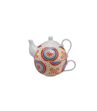 Cosy & Trendy Teapot With Cup Deco D10xh12cmteapot 26cl - Cup 21cl