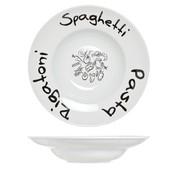 Cosy & Trendy Pasta plate D19-30xh6cm Deco Spaghetti -  pasta - Rigatoni (set of 6)
