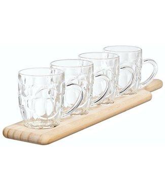 Cosy & Trendy Tasting Set Wooden Tray - 4 Pints 285ml48x10xh1.8cm