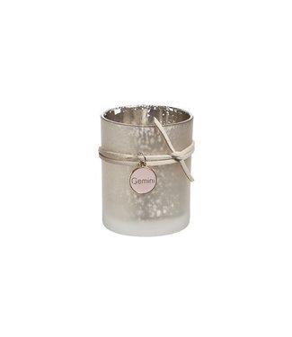 Cosy @ Home Theelichtglas Collier Champagne D6xh7cm (set van 6)