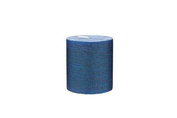 Cosy & Trendy Rustic Cylinderkaars Met. Saffierblauw 8d7xh8cm (set van 4)