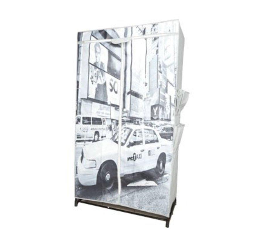 Kleerkast 87x46x156cm Design Ny Taxi, Non Woven