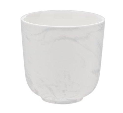 Cosy & Trendy Marble Grey Beker Zonder Oor 26cl D8.5cm (set van 8)