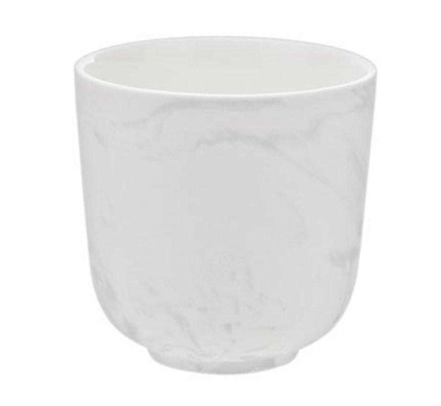 Marble Grey Beker Zonder Oor 26cl D8.5cm (set van 8)