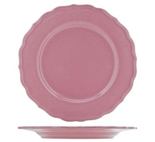 Cosy & Trendy Juliet Pink Plat Bord Blinkend D28cm (set van 12)