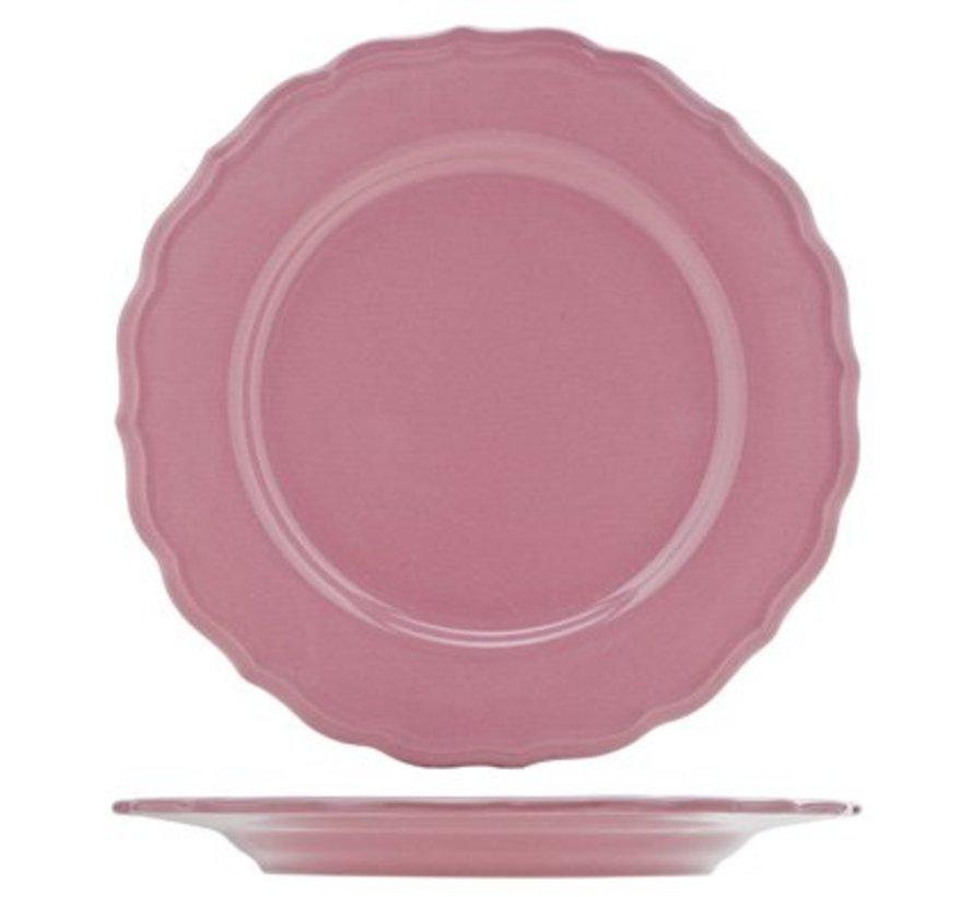 Juliet Pink Plat Bord Blinkend D28cm (set van 12)