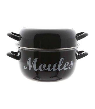 Cosy & Trendy For Professionals Moules Mosselpot 4kg Zwart Nieuw D24cm (set van 4)