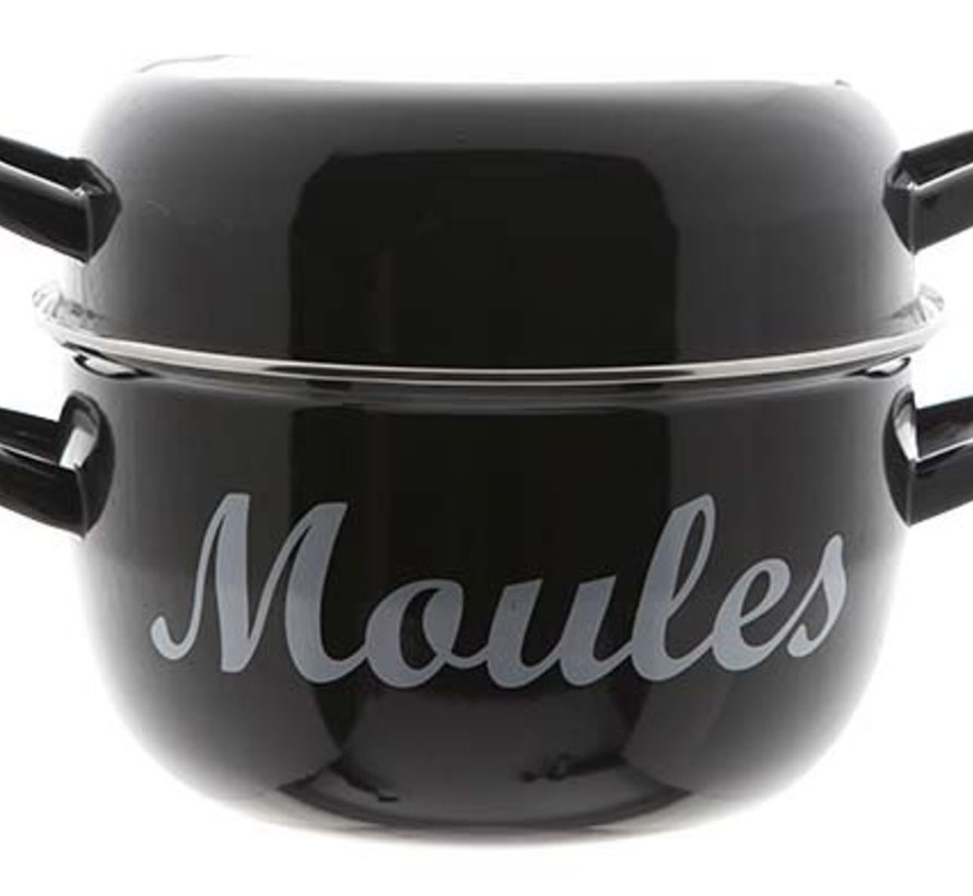 Moules Muscheltopf D24cm Schwarz 4kg (4er Set)