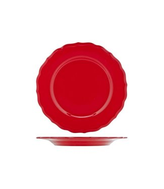 Cosy & Trendy Juliet-Red - Dinner plate - D28cm - Ceramic - (set of 12)