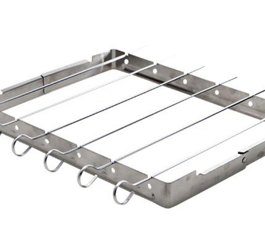 Grill Sate Frame 25x34.5 Met 6 Stickssticks 34.5cm