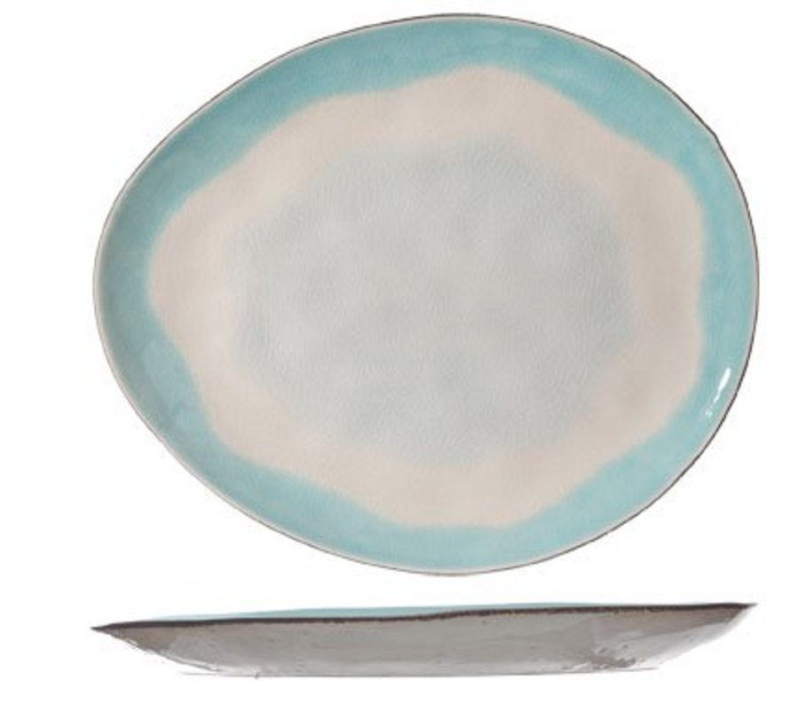 Malibu Dessert Plate Oval 20.5x17.5cm