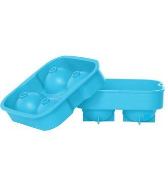 Cosy & Trendy Ijsblokhouder Ballen Blauw 4st D4.5cmsilicone