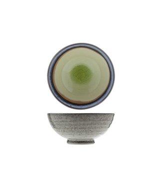 Cosy & Trendy Giana Green Schaaltje D11.5xh5.3cm  - Aardewerk (set van 6)