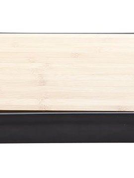 CT Nero Cutting Board Bamboo W. Plast. Trayin Balck Holder 38x25xh4.7cm