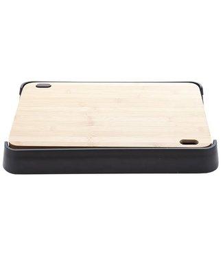 Cosy & Trendy Nero Snijplank Bamboo Met Pl. Dienbladin Zwarte Houder 38x25xh4.7cm