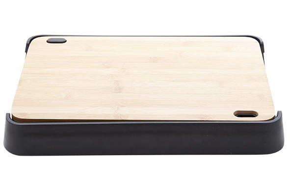 CT Nero Snijplank Bamboo Met Pl. Dienbladin Zwarte Houder 38x25xh4.7cm