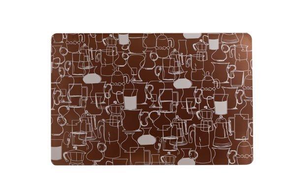 Cosy & Trendy Placemat Kannen Design Brons 43.5x28.5cmpvc (set van 12)