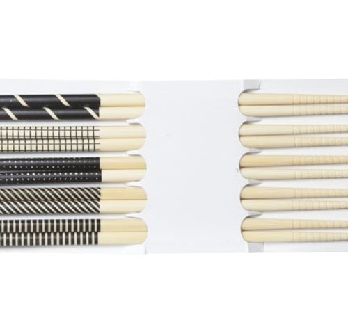 Cosy & Trendy Chopsticks Black 22.5cm Set 5 Pairs