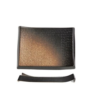 Cosy & Trendy Shoshu - Platte - Gold - 23x17xh2,5cm - Keramik - (6er-Set).
