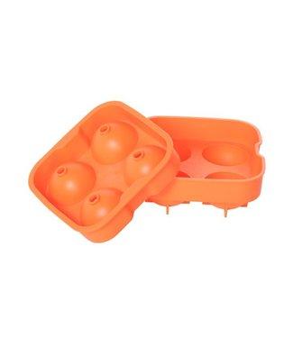 Cosy & Trendy Ijsblokhouder Ballen Oranje 4st D4.5cmsilicone
