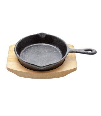 Cosy & Trendy Gietijzer Pan 10.5cm Berkenhout Plankjezwart Mat Emaille