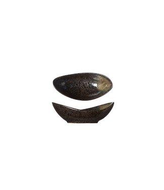 Cosy & Trendy Black Yoru Schaaltje Ovaal 10x5xh3cm (set van 12)