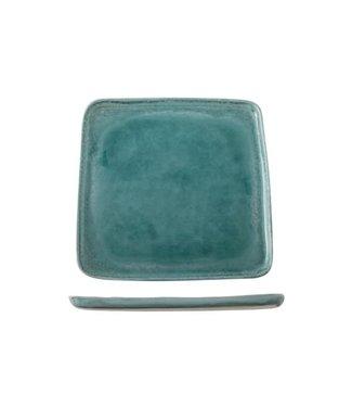 Cosy & Trendy Isabeau - Bord - Blauw - 27.5x27.5cm - Porselein - (set van 6).