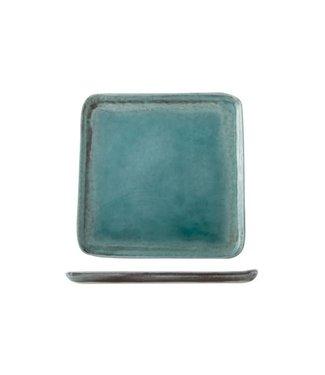 Cosy & Trendy Isabeau - Dessertbord - Blauw - 21.5x21.5cm - Porselein - (set van 6).