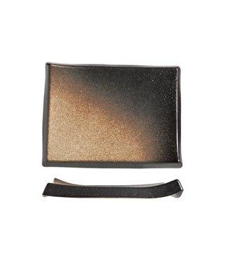 Cosy & Trendy Shoshu - Platte - Gold - 28x21xh3cm - Keramik - (3er-Set).
