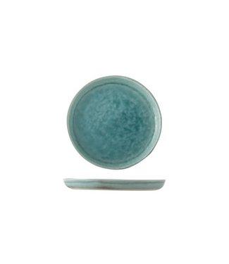 Cosy & Trendy Isabeau - Blau - Kaffee Untertassen - Porzellan - D14cm - (6er Set)