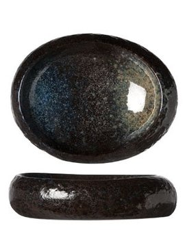 Cosy & Trendy Black Yoru Schaal Ovaal 19x15xh5cm
