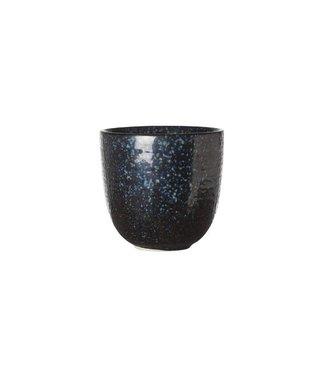 Cosy & Trendy Black Yoru Kopje 8.5xh8cm Aardewerk -  (set van 6)