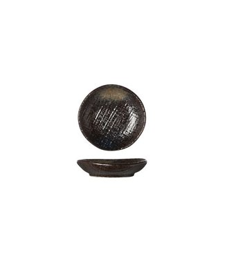 Cosy & Trendy Yoru - Plate - Black - D8cm - Ceramic - (set of 6).
