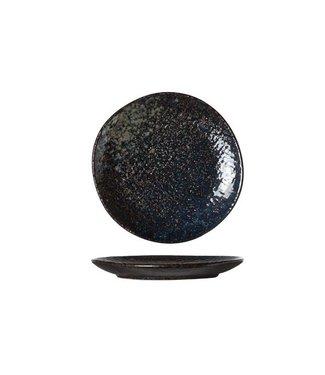Cosy & Trendy Yoru - Plate - Black - D14cm - Ceramic - (set of 6).