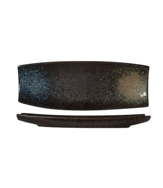 Cosy & Trendy Black Yoru Rect Plate 33x12xh3cm (set of 3)