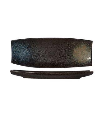 Cosy & Trendy Black Yoru Schaal  33x12xh3cm  - Aardewerk (set van 3)