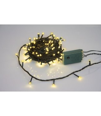 Light Creations Sparkle Light Led 12m 160l Warm Wittegroene Draad 24v Modulator Ext.2.5m