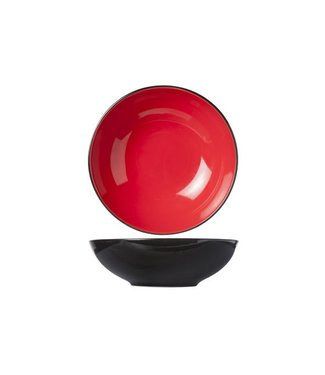 Cosy & Trendy Finesse Red Deep Plates D20xh6.2cm - Ceramic - (set of 6)