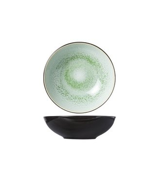 Cosy & Trendy Finesse Green Deep Plates D20xh6.2cm - Ceramic - (set of 6)