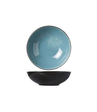 Cosy & Trendy Finesse Blue Deep Plates D20xh6.2cm - Ceramic - (set of 6)