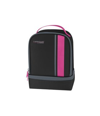 Thermos Neo Dual Compartm Lunch Kit Black-pink