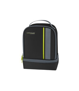 Thermos Neo Dual Compartm Lunch Kit Black-lime