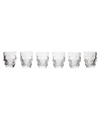 Cosy & Trendy Skull Shot Glass Tiki D5x5,8cm Set6 4cl