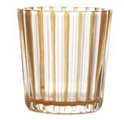 Cosy @ Home T-lichthouder Elize Glas Oranje 6x6x6cm (set van 12)