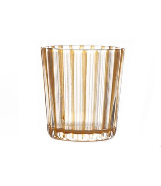 Cosy @ Home T-lightholder Elize Glass Orange 6x6x6cm (set of 12)