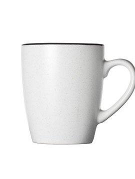 CT Speckle White Cup 8.7x5.9xh10.3cm bordo nero set di 6