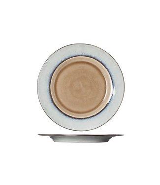 Cosy & Trendy Castor - Dinner plate - Brown - D29xh2.5cm - Ceramic - (set of 6).