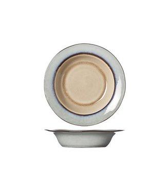 Cosy & Trendy Castor - Deep Plate - Brown - D21.5x4.5cm - Ceramic - (set of 6).