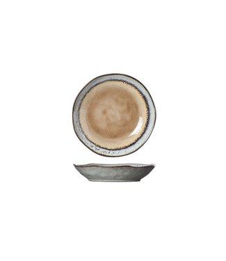 Cosy & Trendy Castor - Dessertbord - Bruin - D15.5xh3cm - Keramiek - (set van 6).