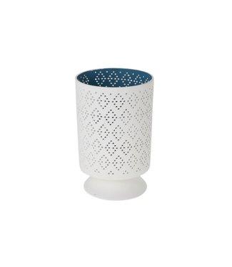 Cosy & Trendy Sphere Candle Holder  D13xh20cminside Green- Outside Matt White